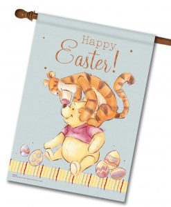 Pooh & Tigger Easter - House Flag - 28'' x 40''