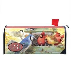 Backckyard Songbirds Personalized Photo Magnetic Mailbox Cover