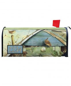 Barn Birdsong Personalized Photo Magnetic Mailbox Cover