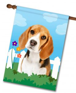 Spring Beagle III - House Flag - 28'' x 40''