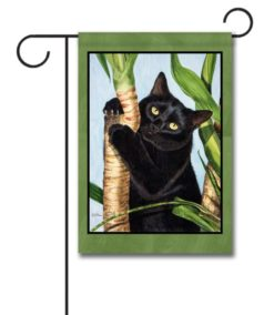 Palm Tree Cat - Garden Flag - 12.5'' x 18''