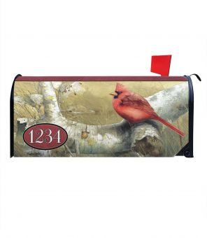 Cardinal in the Fall Personalized Photo Magnetic Mailbox Cover