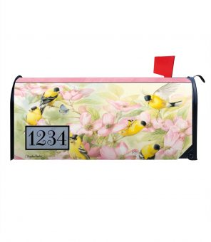 Crowded Dogwood Personalized Photo Magnetic Mailbox Cover