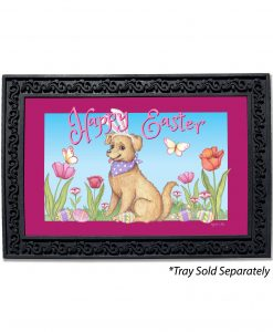 Happy Easter Spring Dog Doormat