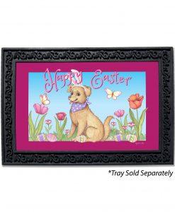 Happy Easter Spring Dog Doormat