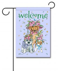 Easter Bonnets Dogs - Garden Flag - 12.5'' x 18''
