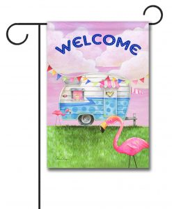 Glamper Welcome - Garden Flag - 12.5'' x 18''