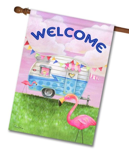 Glamper Welcome - House Flag - 28'' x 40''