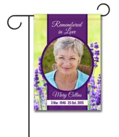 Remembered in Love Photo Flag - Garden Flag - 12.5'' x 18''