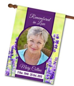 """Remembered in Love Photo Flag - House Flag - 28"""" x 40"""""""