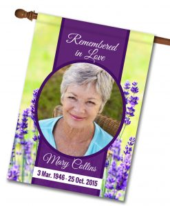 "Remembered in Love Photo Flag - House Flag - 28"" x 40"""