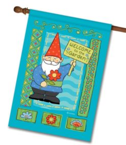 Welcome to the Garden Gnome - House Flag - 28'' x 40''