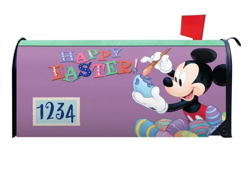 Mickey Happy Easter Mailbox Cover CROP