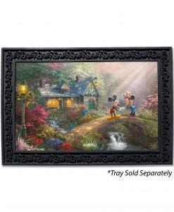 Mickey and Minnie Sweetheart Bridge Doormat