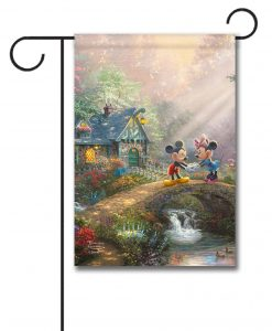 Mickey and Minnie Sweetheart Bridge - Garden Flag - 12.5'' x 18''