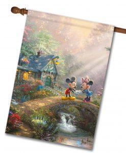 Mickey and Minnie Sweetheart Bridge - House Flag - 28'' x 40''