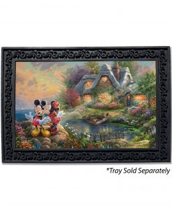 Mickey and Minnie Sweetheart Cove Doormat