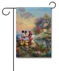 Mickey and Minnie Sweetheart Cove - Garden Flag - 12.5'' x 18''