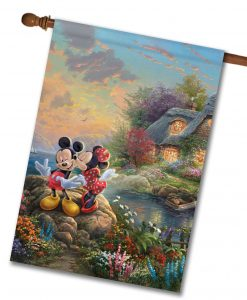 Mickey and Minnie Sweetheart Cove - House Flag - 28'' x 40''
