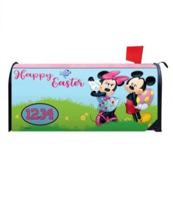 Happy Easter Mickey & Minnie Magnetic Mailbox Cover