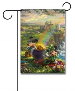 Mickey and Minnie Ireland - Garden Flag - 12.5'' x 18''