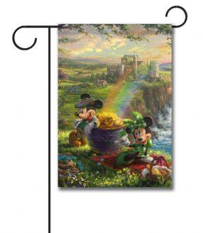 Mickey and Minnie Ireland - Garden Flag - 12.5'' x 18''