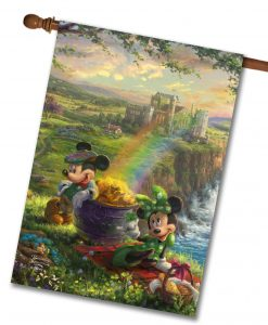 Mickey and Minnie Ireland - House Flag - 28'' x 40''