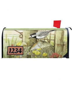 Nesting in the Meadow Personalized Photo Magnetic Mailbox Cover