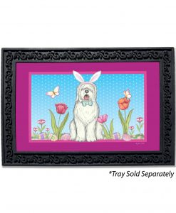 Old English Sheepdog Bunny Ears Doormat