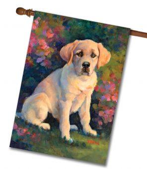 Puppy Love - House Flag - 28'' x 40''