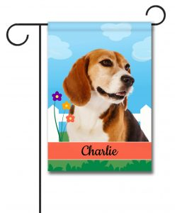 Personalized Spring Beagle II - Garden Flag - 12.5'' x 18''