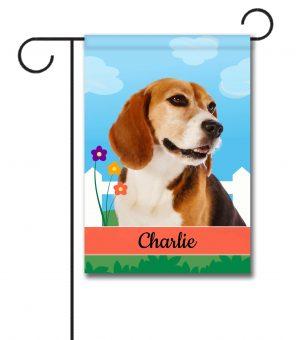 Personalized Spring Beagle II - Garden Flag - 12.5'' x 18''