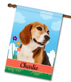 Personalized Spring Beagle II - House Flag - 28'' x 40''