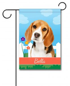 Personalized Spring Beagle III - Garden Flag - 12.5'' x 18''
