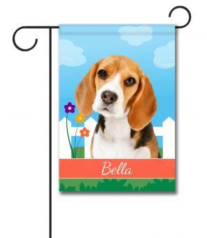 Personalized Spring Beagle III - Garden Flag - 12.5'' x 18''