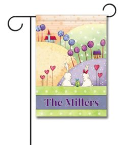 Personalized Bunny Love  - Garden Flag - 12.5'' x 18''