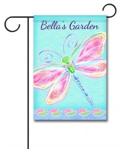 Personalized Dragonfly Welcome  - Garden Flag - 12.5'' x 18''