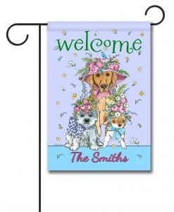 Personalized Easter Bonnets Dogs  - Garden Flag - 12.5'' x 18''