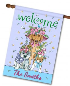 Personalized Easter Bonnets Dogs - House Flag - 28'' x 40''