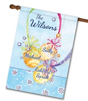 Personalized Easter Ornaments - House Flag - 28'' x 40''