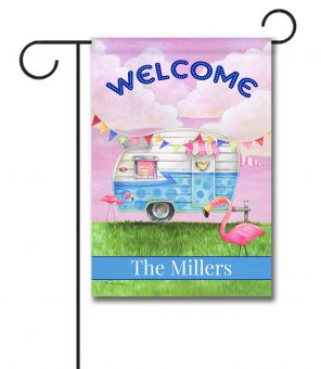 Personalized Glamper Welcome  - Garden Flag - 12.5'' x 18''