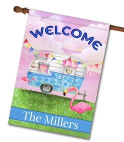 Personalized Glamper Welcome - House Flag - 28'' x 40''