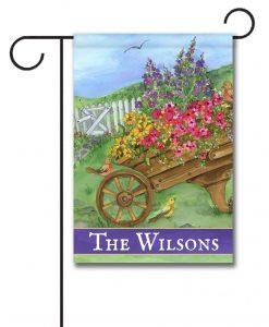 Personalized Wheelbarrow Way  - Garden Flag - 12.5'' x 18''