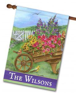Personalized Wheelbarrow Way - House Flag - 28'' x 40''