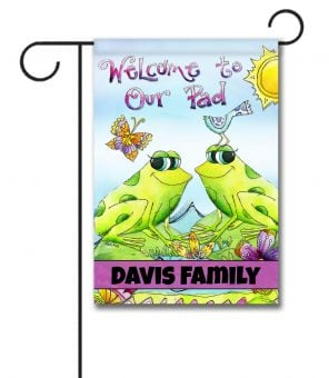 Personalized Welcome to our Pad  - Garden Flag - 12.5'' x 18''