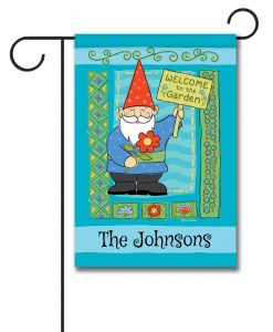 Personalized Welcome to the Garden Gnome  - Garden Flag - 12.5'' x 18''
