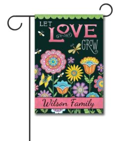 Personalized Let Love Grow Summer Garden  - Garden Flag - 12.5'' x 18''