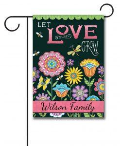 Personalized Let Love Grow Summer Garden  - Garden Flag - 12.5'' x 18''