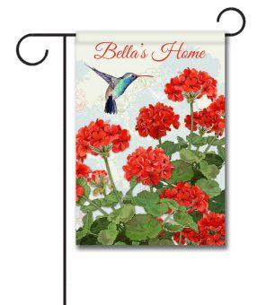 Personalized Hummingbird Welcome  - Garden Flag - 12.5'' x 18''