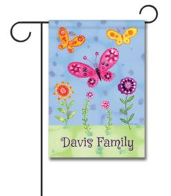 Personalized Butterfly Garden  - Garden Flag - 12.5'' x 18''